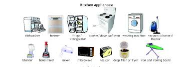 kitchen appliances carmenlu r anglais 00 orthographe et
