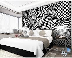 3D Chessboard Ball 5D Wall Paper Mural Art Print Decals Modern Room Decor IDCWP 3DB