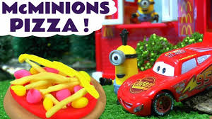 cars pate a modeler minions mcdonald s drive thru pizza play doh food with cars