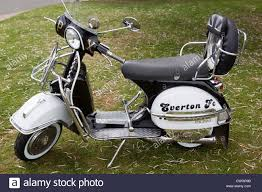 Customised Classic Vespa Scooter With Everton FC Logo