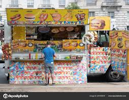 100 Food Trucks In Dc Today Man Stops At Truck Stock Editorial Photo Joebenning