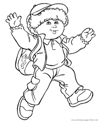Cabbage Patch Kids Color Page Cartoon Characters Coloring Pages Plate Sheet