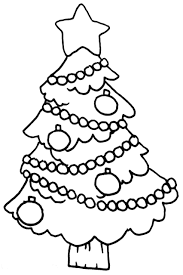 Download Print Easy Christmas Tree Coloring Page