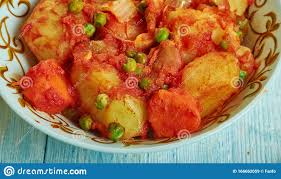 marqa batata tunesische küche stockbild bild sortiert