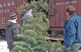 Christmas Tree Train Durango Silverton Narrow Gauge Railroad Colorado