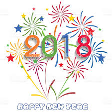 New Year clipart colorful firework Pencil and in color new year