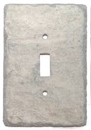 light switch cover gray slate rustic cottage