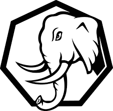 Angry Elephant Head Side Cartoon Coloring Page