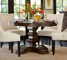 Pottery Barn BANKS EXTENDING PEDESTAL DINING TABLE ALFRESCO BROWN Dining Tables Sale Fall