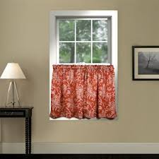 buy red curtain tiers from bed bath beyond