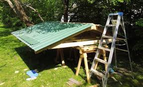 lean to shed vinyl shed roof