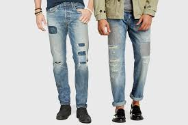 six pairs of patchwork jeans for men photos gq