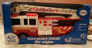 100 Emergency Truck Amazoncom Just Kidz Rescue Fire Engine Toys Games