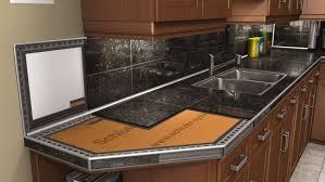 kitchen countertops schluter cleaning ceramic tile kitchen
