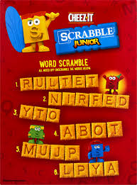 Super Scrabble Tile Distribution by Cheez It Baked Snack Crackers Scrabble Junior 12 4 Oz Walmart Com