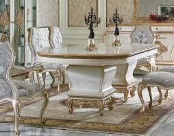 10 tlg esszimmer komplett garnitur tisch anrichte 6x stuhl set vitrine barock