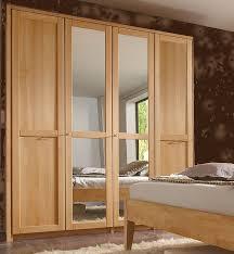 4trg kleiderschrank mit spiegel 190x216x61 cm buche massiv geölt casade mobila