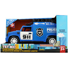 100 Police Truck Tab Light Up Friction Powered Emergency PreSchool Toys
