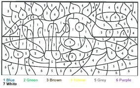 Color By Number Printable Difficult Coloring Books Worksheets Pages For Teenagers