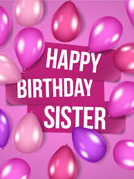 Violet Birthday Balloon Card for Sister
