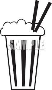 0511 1103 0912 2858 Black and White Milkshake Icon clipart image