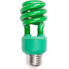 shop 60 w equivalent green spiral cfl decorative light bulb at