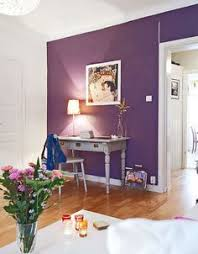 Purple Wall For Entrance Dining Room