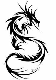 5 Cool And Simple Tribal Black Dragon Tattoos Ideas