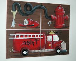 100 Fire Truck Wall Art Fresh Mural For Boys Rooms