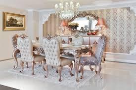 casa padrino luxus barock esszimmer set 1 esstisch mit glasplatte 6 esszimmerstühle esszimmermöbel im barockstil edel prunkvoll