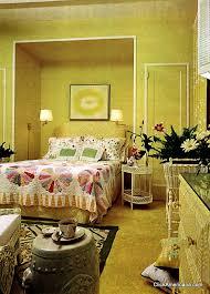 Retro Yellow Pastel Bedroom Decor 1967