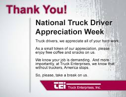 Truck Enterprises Celebrates National Truck Driver Appreciation Week September 11 17 Is National Truck Driver Appreciation Week When We 18 Fun Facts You Didnt Know About Trucks Truckers And Trucking Ntdaw Hashtag On Twitter Freight Amsters Holland Recognizes Professional Drivers Crete Carrier Cporation Landstar Scenes From 2016 We Holiday Graphics Pinterest Celebrating Eagle Tional Truck Driver Appreciation Week Prodriver Leasing 2017 Ptl Cporate