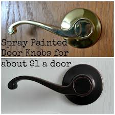DIY Spray Painted Doorknobs Ugly Brass to Beautiful Oil Rubbed