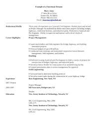 Resume Career Profile Examples Professional On Me Template Sample With Regard