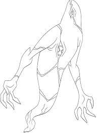 Ghostfreak Aliens Ben 10 Coloring Pages