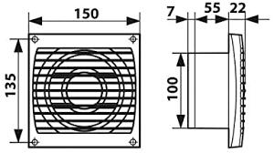 badventilator dalap 100 elke mz mit lichtsensor und zeitnachlauf