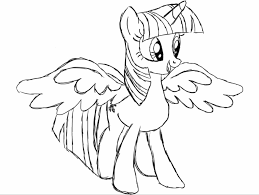 My Little Pony Coloring Pages Princess Twilight Sparkle Alicorn Download