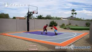 Multi-Sport Backyard Court System - SYNLawn Photo Gallery Home Basketball Court Design Outdoor Backyard Courts In Unique Gallery Sport Plans With House Design And Plans How To A Gym Columbus Ohio Backyards Trendy Photo On Awesome Romantic Housens Basement Garagen Sketball Court Pinteres Half With Custom Logo Built By Deshayes