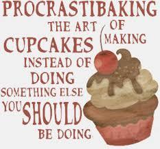 Procrastibaking Funny Cupcake Baking Quote T Shirt
