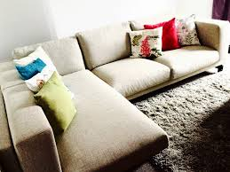 ikea nockeby corner sofa 2 seater with chaise longue hardly