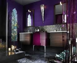 lila nuancen badezimmer orientalisch motive akzente