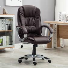 2019 High Brown PU Leather Executive Office Desk Task Computer Boss Luxury  Chair NEW From Luluge998, $60.31   DHgate.Com Wingback Office Chair Vintage Top Grian Real Leather Desk Alinium Chairs Cad Drawings Vanbow Memory Foam Adjustable Lumbar Support Knob And Tilt Angle High Back Executive Computer Thick Padding For China Italy Design Speaking Antique Table Hxg0435 Guide How To Buy A 10 Us 18240 5 Off18m Writing Desks Rosewood Living Room Fniture Tables Solid Wood Book Board Chinese Style On Fjllberget En Andinavisk Karaktr Ikea Home Office Retro Chair With Ceo Sign Isolated A White Background Give Those Old New Life 7 Steps Pictures Soft Padded Mid Light Brown