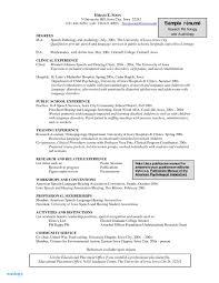 Massage Therapist Sample Resume Elegant Speech Pathology Examples
