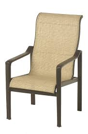 Patio Furniture Slings Fabric by Hanamint Hyde Park Sling Dining Chair All Things Barbecue