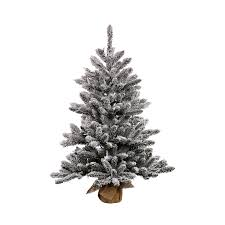 Vickerman 2 Ft Pre Lit Pine Flocked Artificial Christmas Tree With White Incandescent Lights
