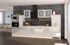 küchenzeile münchen vario 4 küche mit e geräten breite 360 cm hochglanz weiß
