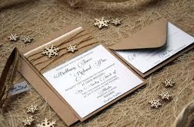 Winter Wedding Invitation Custom Invitations Snowflake Burlap Rustic Invite SAMPLE