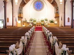 wedding decorations for church