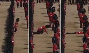 Portsmouth Halloween Parade Thriller Dance by Guardsman Faints In Sweltering Temperatures At Trooping The Colour