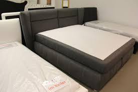 boxspringbett bett 180x200 grau schlafzimmer